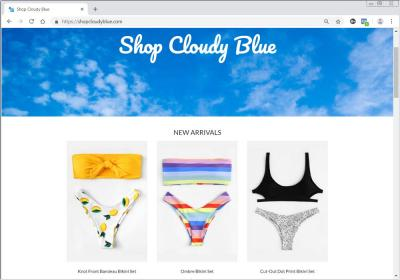 Shop Cloudy Blue Fashion